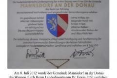 Wappenverleihung 2012