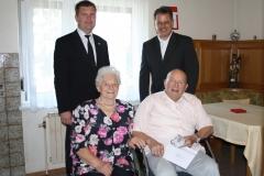 Wir gratulieren Herta und August Babitsch zur Eisernen Hochzeit.