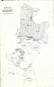 Mannsdorf vor der Kommassierung in den 1920ern