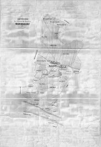 Mannsdorf nach der Kommassierung in den 1920ern